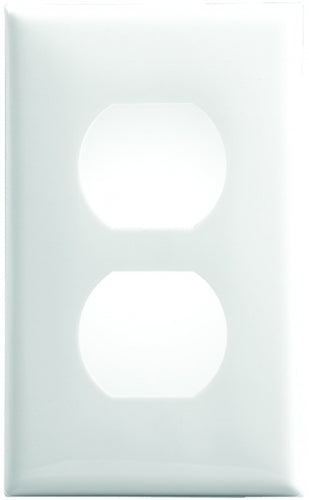 White Single Gang Wall Receptacle Plate