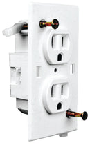 Wirecon White Self Contained Wall Receptacle