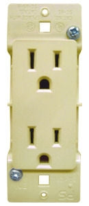 Pass & Seymour Almond Self Contained Wall Receptacle