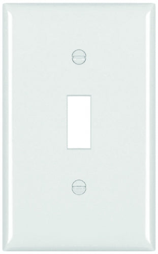 White Single Gang Wall Switch Plate