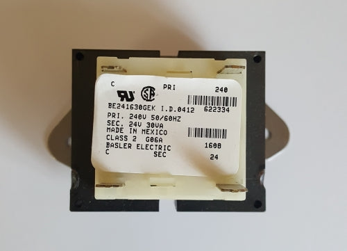 Nordyne/Miller/Intertherm 622334 Transformer 24V@30VA (NOT RETURNABLE)