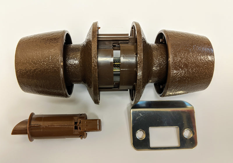 Brown Plastic Passage Lockset