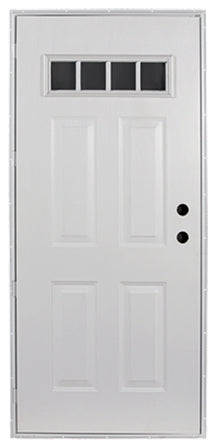Outswing Door for Mobile Homes with 4-lite Glass