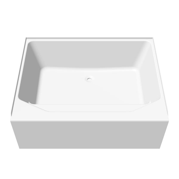 Lyons 42''x54'' White Mobile Home Garden Tub With 3 Piece Surround