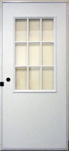 9-Lite Outswing Door for Mobile Homes with Cottage Window