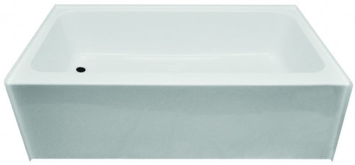 Clarion 27 in x 54 in Left Hand White Fiberglass Tub