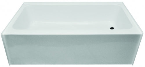 Clarion 27 in x 54 in Right Hand White Fiberglass Tub