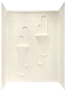 Kinro Mobile Home 3 Piece Almond Tile Shower Surround