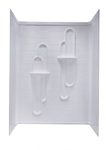 Kinro Mobile Home 3 Piece White Tile Shower Surround
