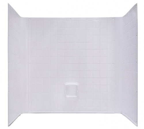 Kinro Mobile Home 3 Piece White Tile Wall Surround 40 in x 54 in