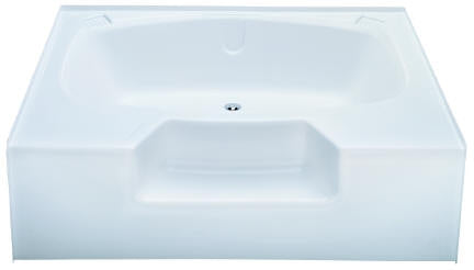Kinro Permalux 40 In X 54 In Mobile Home Tub With Rear