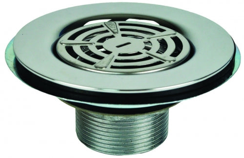 Metal Shower Drain with Strainer 1-1/2in Thread