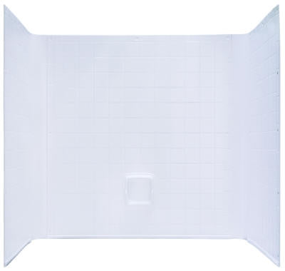 Kinro Mobile Home 1 Piece White Tile Wall Surround 40 in x 54 in