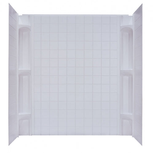 Kinro Mobile Home 5 Piece White Wall Surround 54 in x 40 in