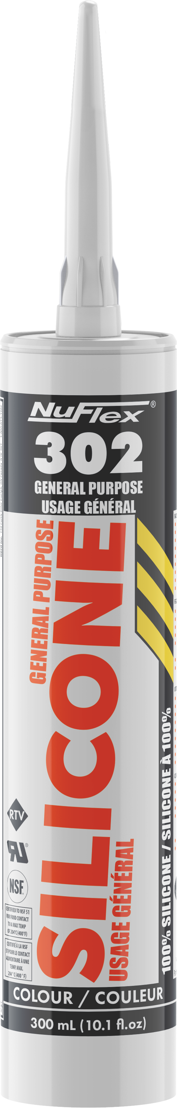 White NuFlex General Purpose 100% Silicone