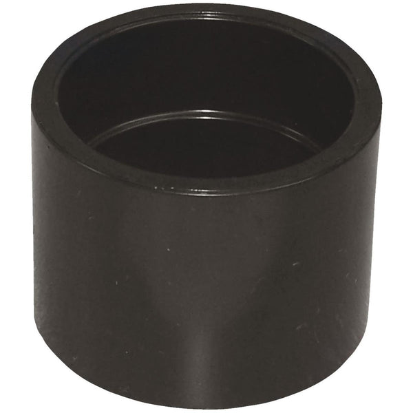 "1 1/2"" x 1 1/2"" Black ABS Coupling"