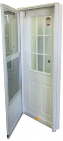 Vinyl Steel Combination Door for Mobile Home w/ 9-Lite Glass
