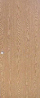 Flush Medium Oak Interior Door (24in x 80in)