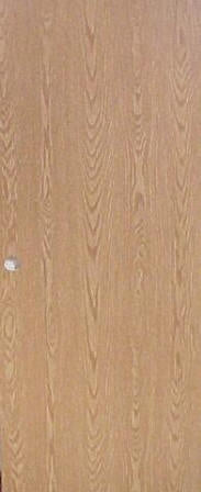 Flush Medium Oak Interior Door (32in x 80in )