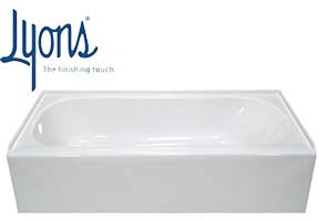 Lyons 27''x54''  White Mobile Home Tub (Acrylic With Fiberglass & OSB)