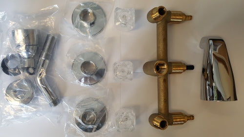 Empire 8in 3-Valve Concealed Tub and Shower Diverter