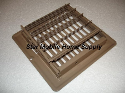 6 X 6 Brown Floor Register