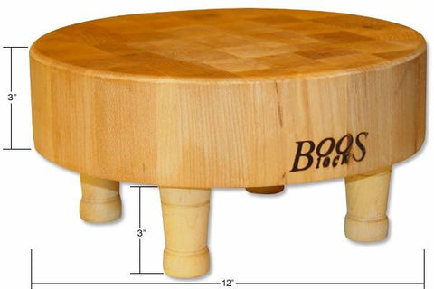 Boos 12-in Diameter Round Block w/ Legs