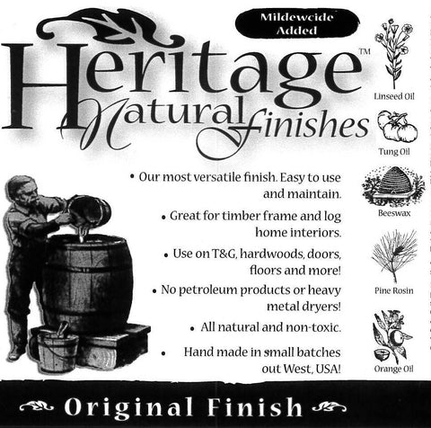 Heritage Natural Finishes Oil Select Interior or Exterior