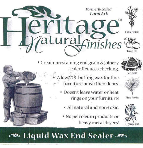 Heritage Natural Finish Wax and End Grain Sealer