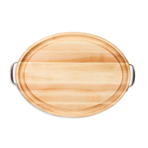 Maple Cutting Board Oval with Handles