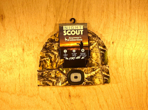 Night Scout Camo Hunting Headlamp Beanie