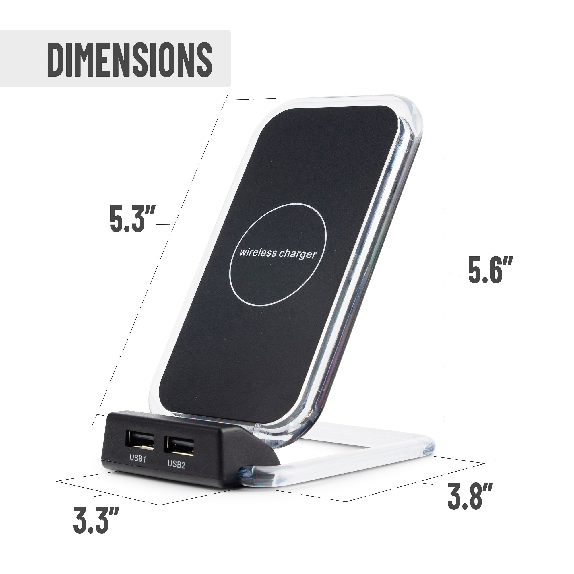 Professional Amazon Product Photography Infographic Design Example - Wireless Charger