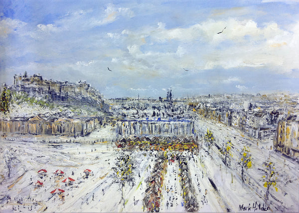 Mark Holden Limited Edition Print - Edinburgh in the Snow