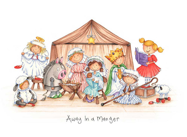 Christmas Card - Away in a Manger
