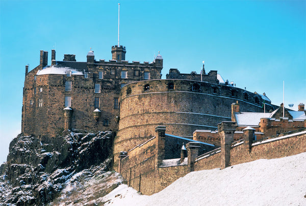 Christmas Card - Edinburgh Castle in Snow