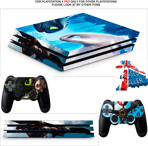 DRAGONS DAWN OF THE NEW RIDERS PS4 PRO SKINS DECALS (PS4 PRO VERSION) TEXTURED VINYL