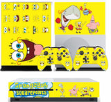 SPONGEBOB XBOX ONE S (SLIM) *TEXTURED VINYL ! * PROTECTIVE SKIN DECAL WRAP