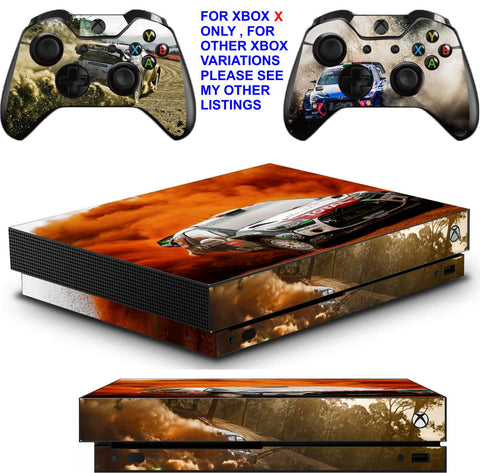 WRC 8 XBOX ONE X *TEXTURED VINYL ! * PROTECTIVE SKINS DECALS STICKERS