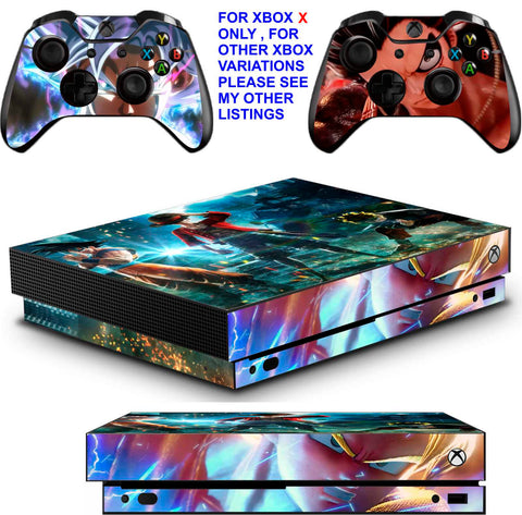 JUMP FORCE XBOX ONE X *TEXTURED VINYL ! * PROTECTIVE SKINS DECALS STICKERS