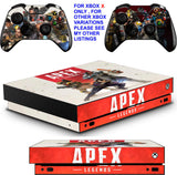 APEX LEGENDS XBOX ONE X *TEXTURED VINYL ! * PROTECTIVE SKINS DECALS STICKERS