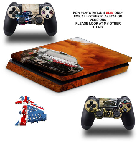 WRC 8 PS4 SLIM *TEXTURED VINYL ! *PROTECTIVE SKINS DECALS WRAP