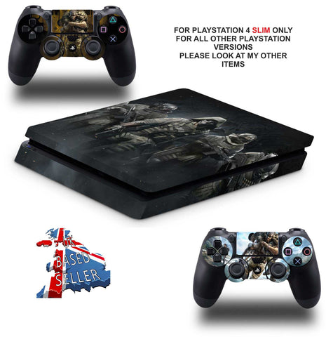 GHOST RECON BREAKPOINT PS4 SLIM *TEXTURED VINYL ! *PROTECTIVE SKINS DECALS WRAP