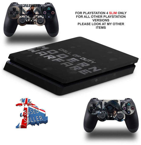CALL OF DUTY MODERN WARFARE PS4 SLIM *TEXTURED VINYL ! *PROTECTIVE SKINS DECALS WRAP