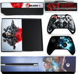GEARS 5 XBOX ONE *TEXTURED VINYL ! *PROTECTIVE VINYL SKIN DECAL WRAP