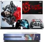GEARS 5 XBOX ONE S (SLIM) *TEXTURED VINYL ! * PROTECTIVE SKIN DECAL WRAP