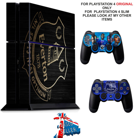 EVERTON PS4 *TEXTURED VINYL ! * PROTECTIVE SKINS DECAL WRAP STICKERS