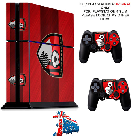 AFC BOURNEMOUTH PS4 *TEXTURED VINYL ! * PROTECTIVE SKINS DECAL WRAP STICKERS