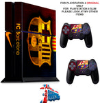 BARCELONA PS4 *TEXTURED VINYL ! * PROTECTIVE SKINS DECAL WRAP STICKERS