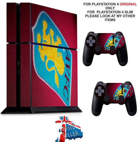 ASTON VILLA FC PS4 *TEXTURED VINYL ! * PROTECTIVE SKINS DECAL WRAP STICKERS