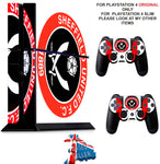 SHEFFIELD UNITED PS4 *TEXTURED VINYL ! * PROTECTIVE SKINS DECAL WRAP STICKERS